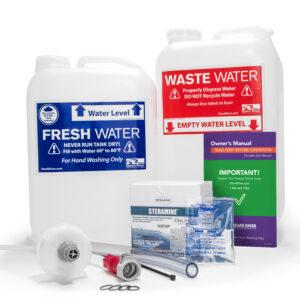 Clean Start Kit for Maintaining and Sanitizing Ozark River Portable Sinks